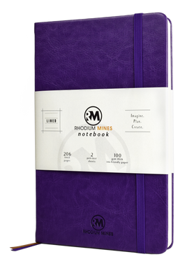 Rhodium Mines® Lined Notebook (Purple)
