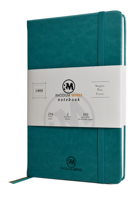Rhodium Mines® Lined Notebook (Turquoise)