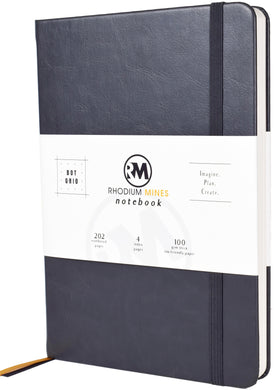 Rhodium Mines® Dot Grid Numbered Notebook (Slate Grey)