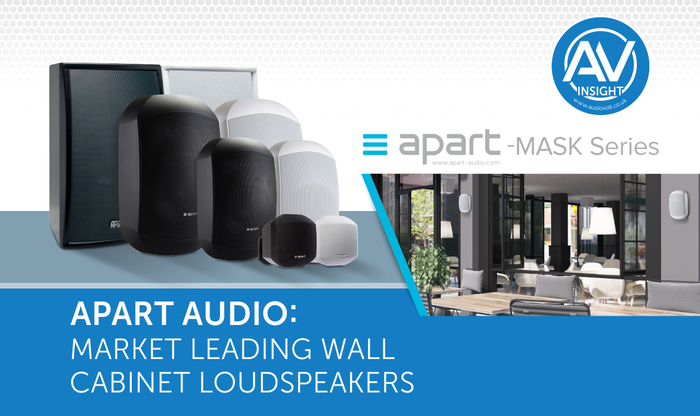 Apart Audio MASK Series – The market leading wall cabinet loudspeakers