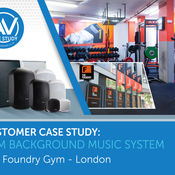 Gym background music system for the Foundry London