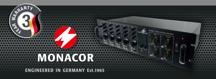 Monacor engineered in Germany