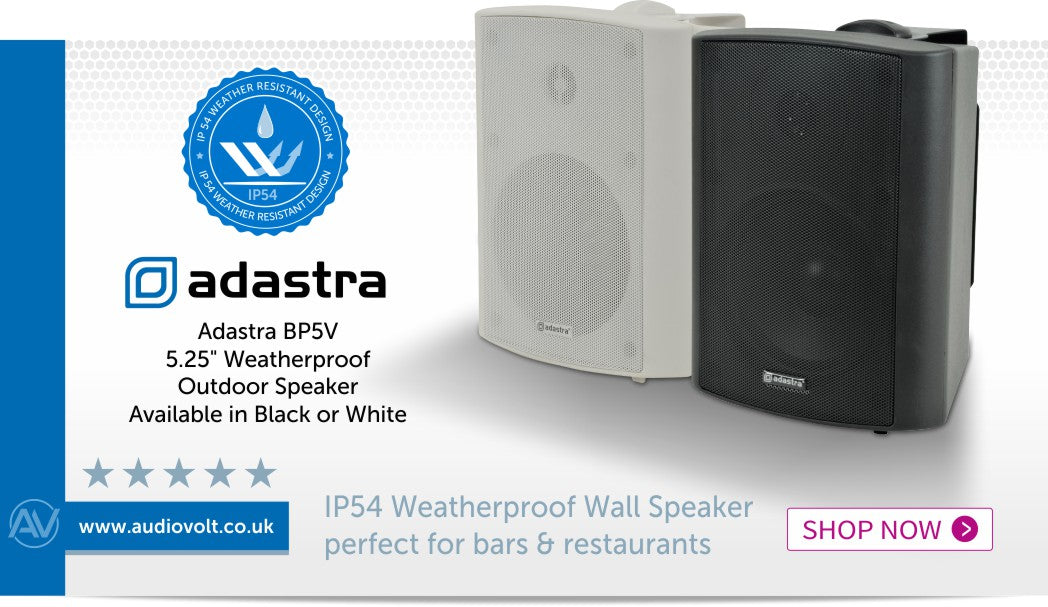 Show now for the Adastra BP5V weatherproof speaker