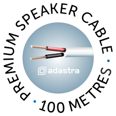 Adastra white Premium Speaker Cable 100 metres