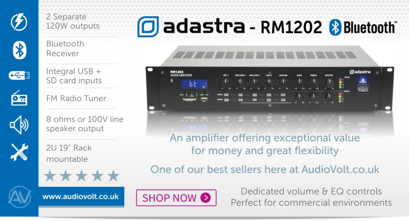 Adastra RM1202 amplifier available at Audio Volt