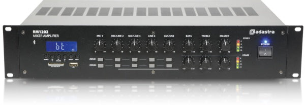 adastra-rm1202-2-zone-100v-line-mixer-amplifier-with-bluetooth-usb-sd-fm-tuner