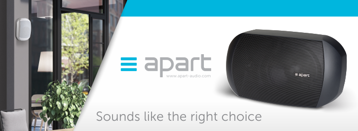 Apart background audio products available at Audio Volt