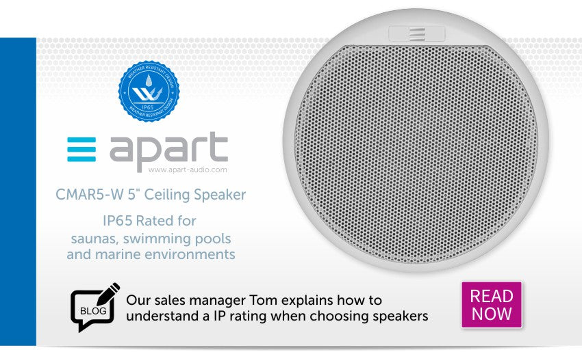 Read our blog about understanding IP ratings and this speaker