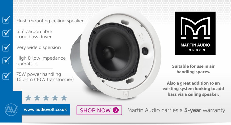 Martin Audio C6.8T 6 inch High-Performance Flush-Mounted Ceiling Speaker
