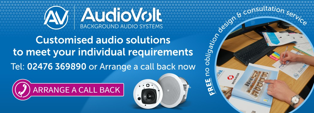 Arrange a call back for a free customised background audio system design