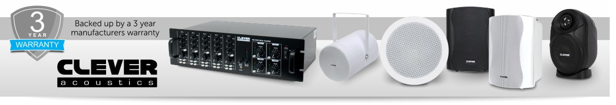 Clever Acoustics have a wide range of 100V line products