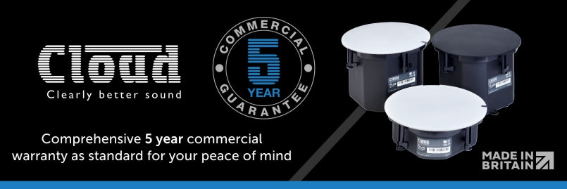 Cloud products have a 5 year commercial warranty as standard