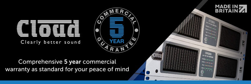 Cloud Electronics have a 5 year commercial guarantee