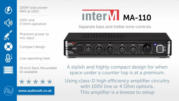 Inter-M MA-110 ultra compact mixer amplifier