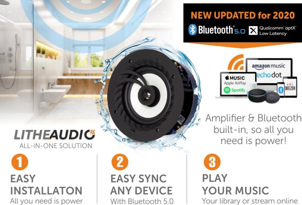 Lithe Audio IP44 Bathroom Ceiling Speakers