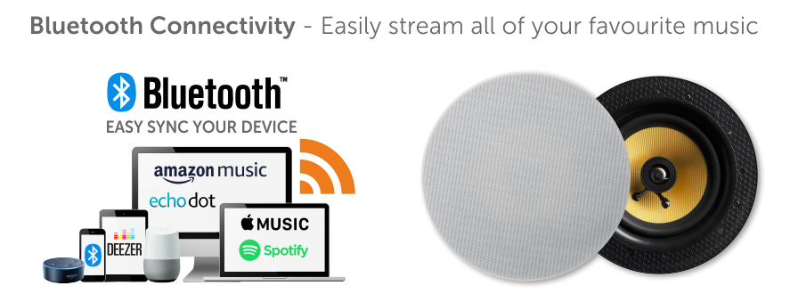 Easy sync your device with Lithe wireless speakers