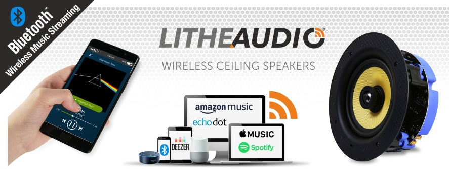 Wireless Ceiling Speakers using Bluetooth technology by Lithe Auido