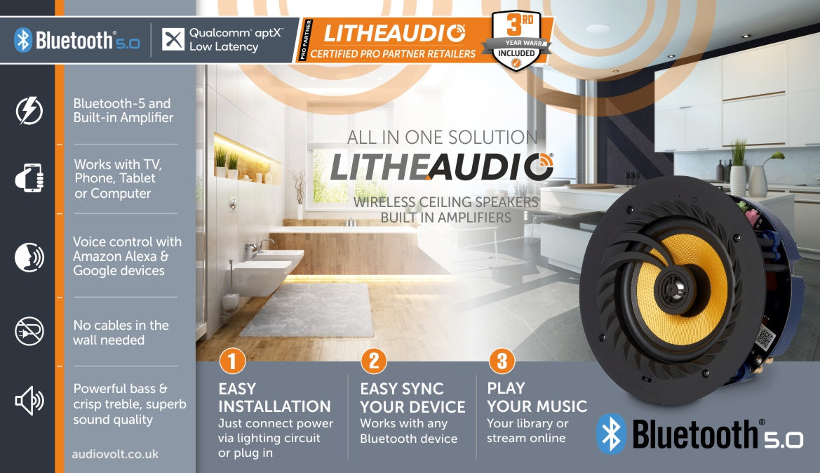 Lithe Audio Bluetooth in Ceiling Speaker
