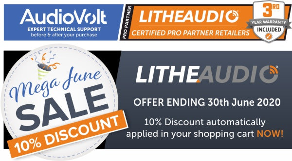 Lithe Audio 10% June Sale now on at Audio Volt