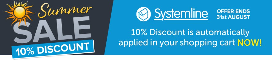 Systemline 10% Discount automatically applied in your shopping cart now