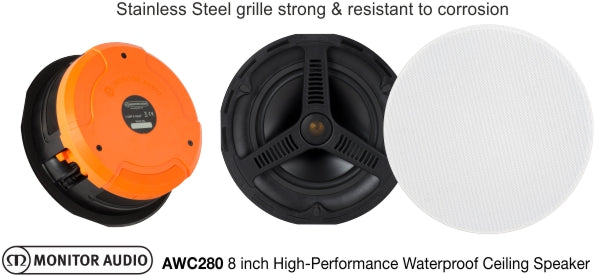 Monitor Audio AWC280 8 inch High-Performance IP55 Rated Waterproof Ceiling Speaker
