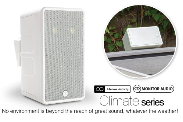 """Monitor Audio Climate 60-T2 - IP55 Rated 6.5"""" Stereo Outdoor Speaker"""