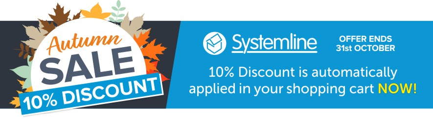 Save 10% off any Systemline product this Autumn at Audio Volt