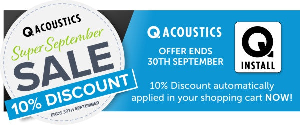 10% Discount for the month of September at Audio Volt