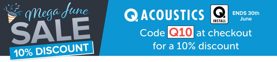 Save 10% on Q Install and Q Acoustics Speakers at Audio Volt