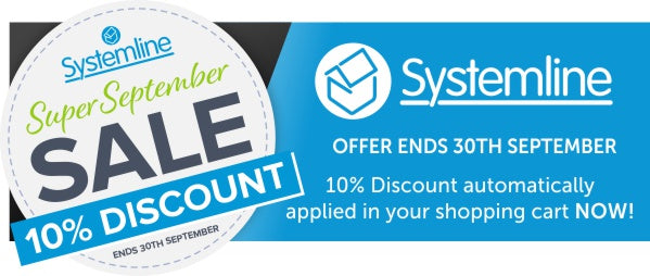 Systemline 10% Discount Sale in September only at Audio Volt