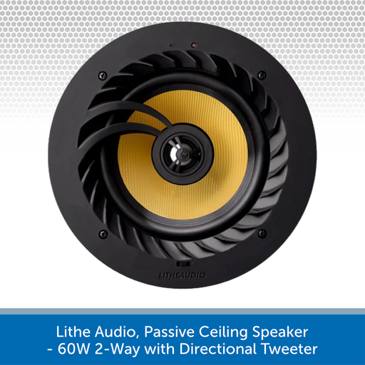 Lithe Audio, Passive Ceiling Speaker - 60W 2-Way with Directional Tweeter