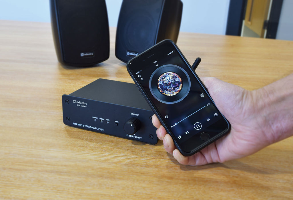 Adastra WiFi Network Stereo Amplifier with Internet Radio & Wireless Music Streaming