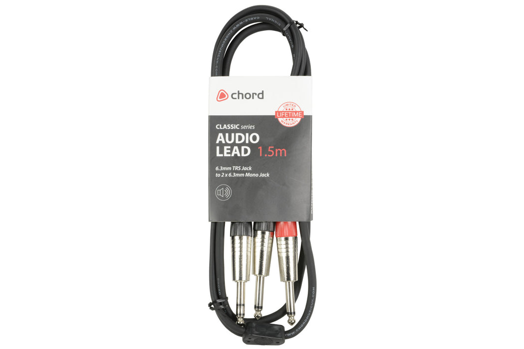 1x TRS Jack to 2x Mono Jack High-quality Audio Cable
