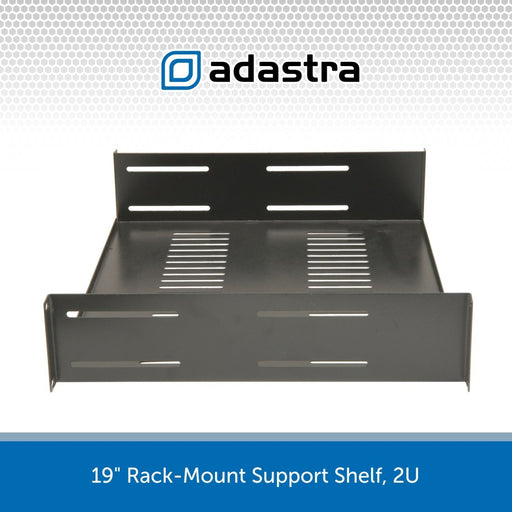 19 inch Rack-Mount Support Shelf, 2U