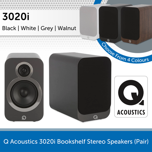 Q Acoustics 3020i Bookshelf Stereo Speakers (Pair)