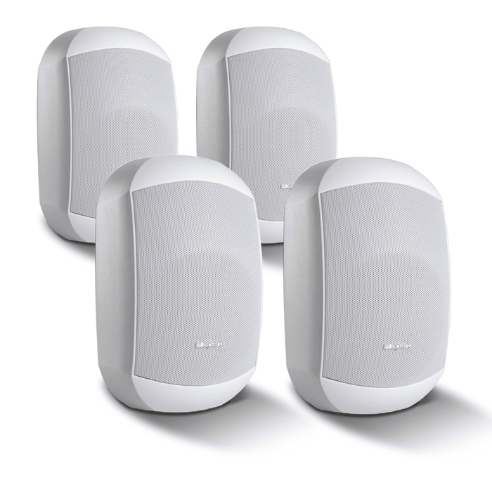 "4 Pack of Apart MASK4C-W 4.25"" Two-Way Loudspeakers in White"