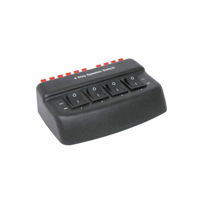 4-Way Stereo Speaker Selector Switch