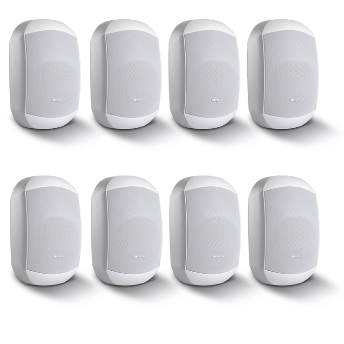 8 Pack of Apart MASK4CT-W Two-Way Loudspeakers in White