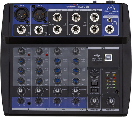 Wharfedale Connect 802USB Compact Mixing Desk
