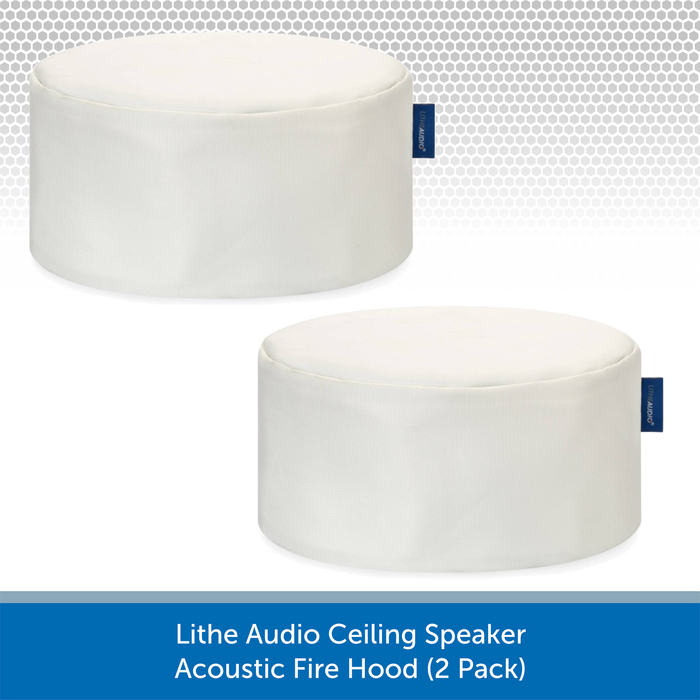 Lithe Audio Ceiling Speaker Acoustic Fire Hood (Twin Pack)