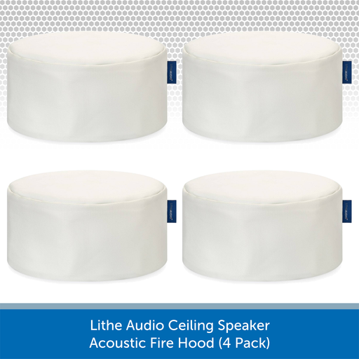 Lithe Audio Ceiling Speaker Acoustic Fire Hood (4 Pack)