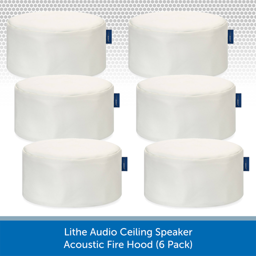 Lithe Audio Ceiling Speaker Acoustic Fire Hoods (6 Pack)