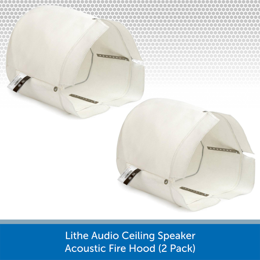 Lithe Audio Ceiling Speaker Fire Hoods (Twin Pack)
