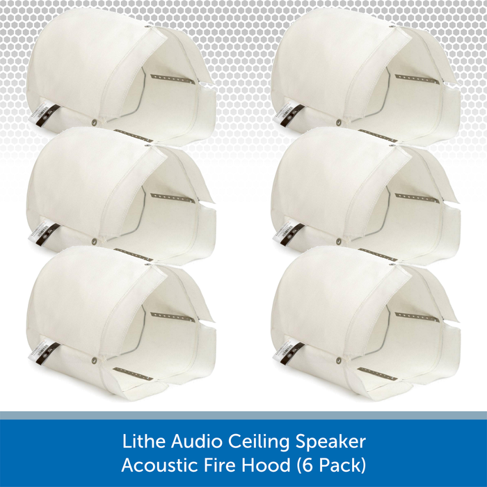Lithe Audio Ceiling Speaker - Fire Hoods (6 Pack)