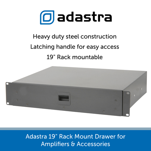 Adastra 19 inch Rack Mount Drawer for Amplifiers & Accessories