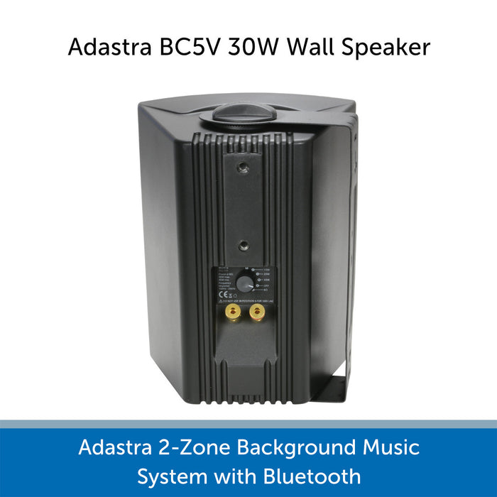 Adastra 2-Zone Background Music System with Bluetooth - Speaker Connections