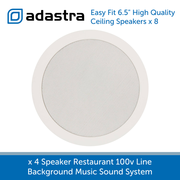 "Adastra easy fit 6.5"" high quality ceiling speakers"