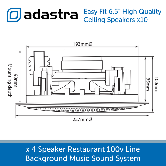 Diagram high quality 2 way ceiliing speakers