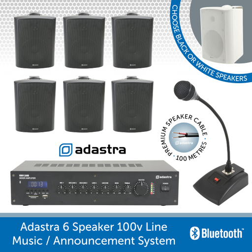 Adastra 6 speaker Music Announcement System