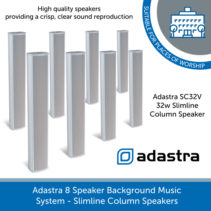 Adastra SC32V Slimline White column speakers